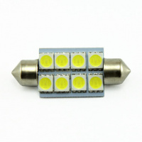 LED lampa 8d, C5W, 39mm, balta