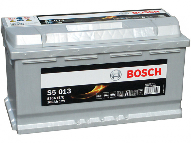 Akumulators Bosch S5 013 Silver Plus 100Ah, 830A, (- +) 353x175x190