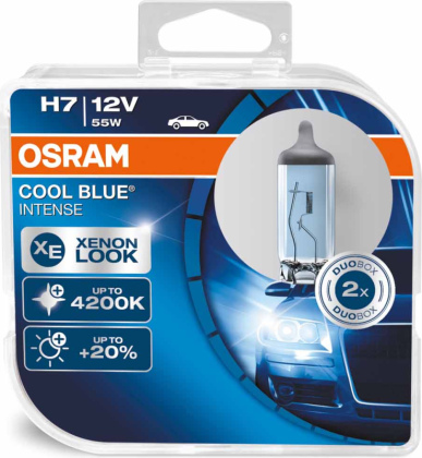 Spuldzes Osram Cool Blue Intense H7 55W +20% 2.gb  64210CBI-HCB