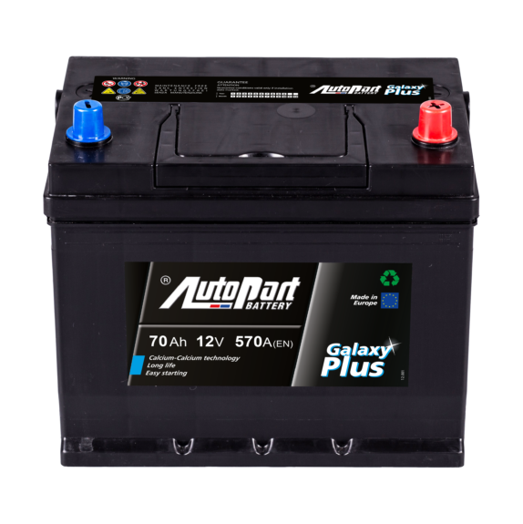 Akumulators Autopart Galaxy Plus 70Ah, 570A, (- +) 261x175x225