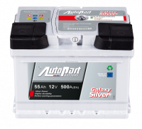Battery Autopart Galaxy Silver 55Ah, 500A, (- +) 242x175x175