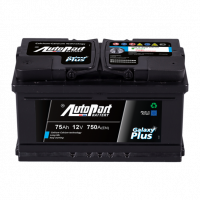 Battery Autopart Galaxy Plus 75Ah, 750A, (- +) 278x175x175