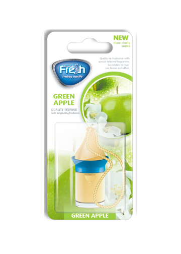 Air freshener Wood blister Green apple