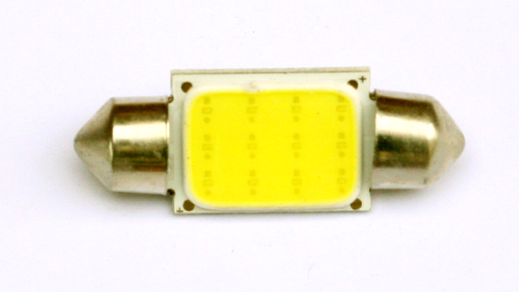 LED lampa 1d, C5W, 36mm, balta