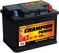 Аккумулятор Champion Power 62Ah, 480A, 12V (- +) 242x175x190