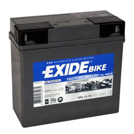 Moto Akumulators Exide GEL 12-19 12V,19Ah,170A, (- +)185x80x170 For BMW