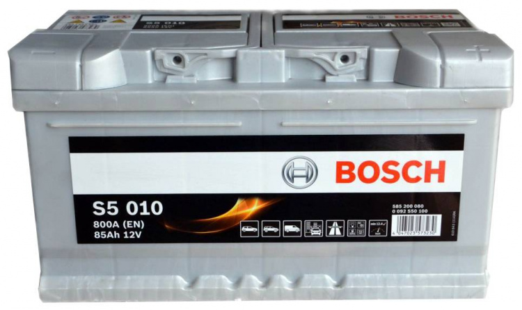 Akumulators Bosch S5 010 Silver Plus 85Ah, 800A, (- +) 315x175x175