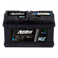 Battery Autopart Galaxy Plus 72Ah, 700A, (- +) 278x175x175