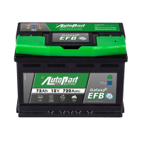 Akumulators Autopart EFB Start-Stop 72Ah, 720A, 12V, (- +) 278 x 175 x 190