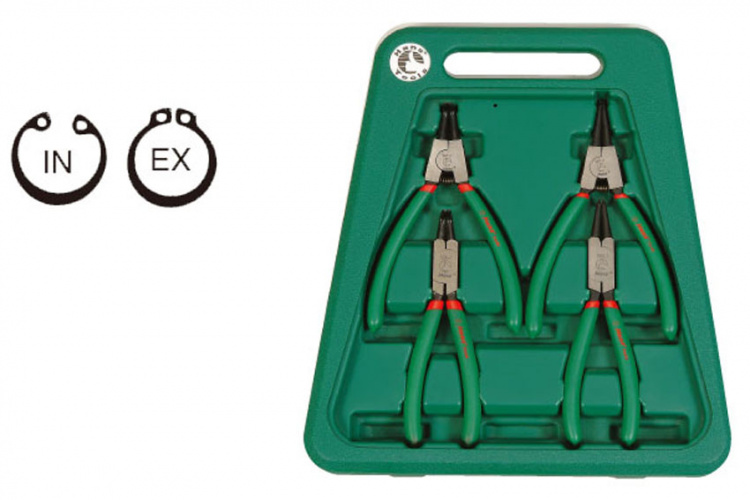4 Pcs in & external circlip pliers set