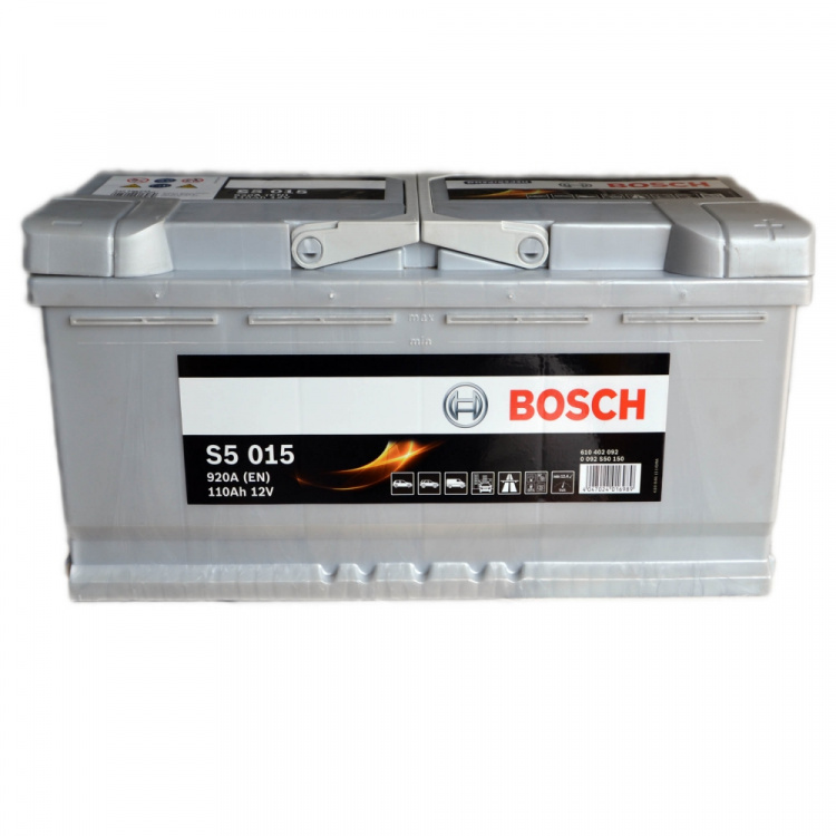 Akumulators Bosch S5 015 Silver Plus 110Ah, 920A, (- +) 393x175x190