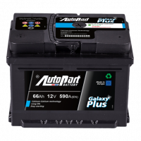 Battery Autopart Galaxy Plus 66Ah, 590A, (- +) 242x175x190