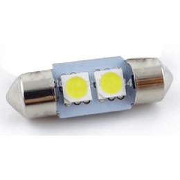 LED lampa 2d, C5W, 31mm, balta