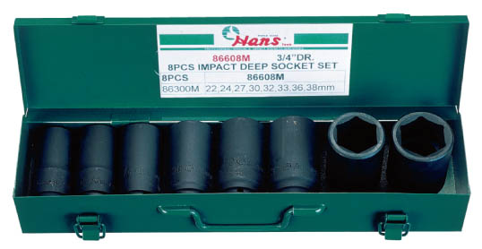 Deep impact socket set 3/4, 8 PCS