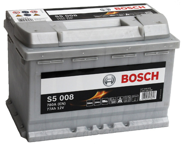 Akumulators Bosch S5 008 Silver Plus 77Ah, 780A, (- +) 278x175x190