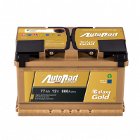 Battery Autopart Galaxy Gold 77Ah, 800A, (- +) 278x175x175