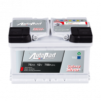 Battery Autopart Galaxy Silver 75Ah, 750A, (- +) 278x175x175