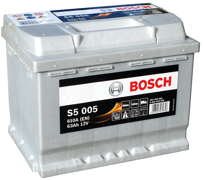 Akumulators Bosch S5 005 Silver Plus 63Ah, 610A, (- +) 242x175x190